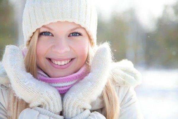 Обветренное лицо зимой