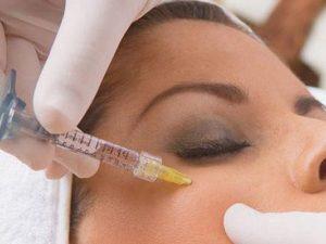 Инъекция в кожу под глазами