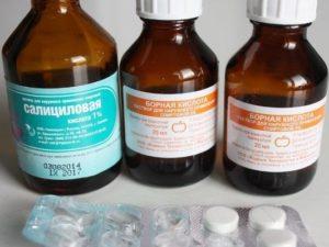 Борная кислота с левомецитином