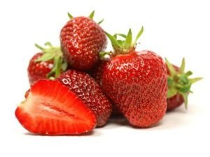 Несколько ягод клубники